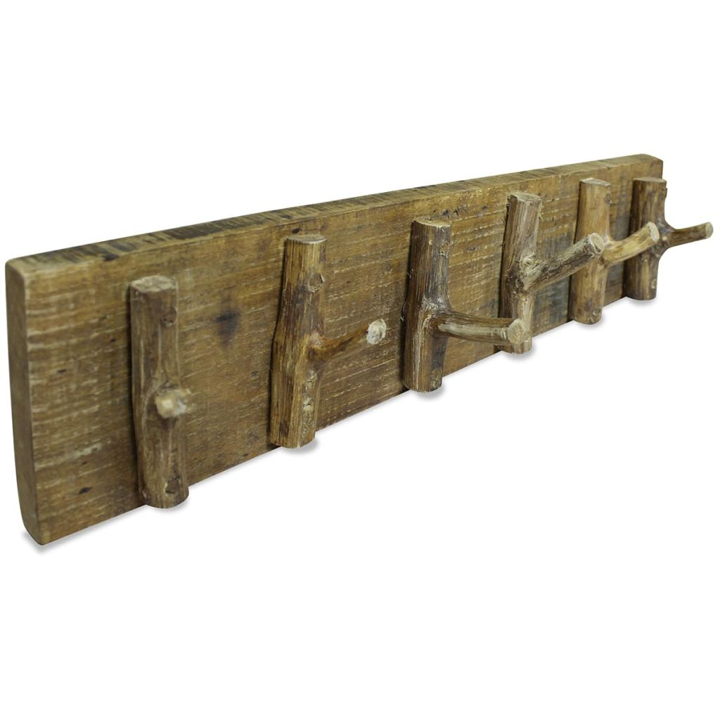 Coat Rack Solid Reclaimed Wood 60x15 cm