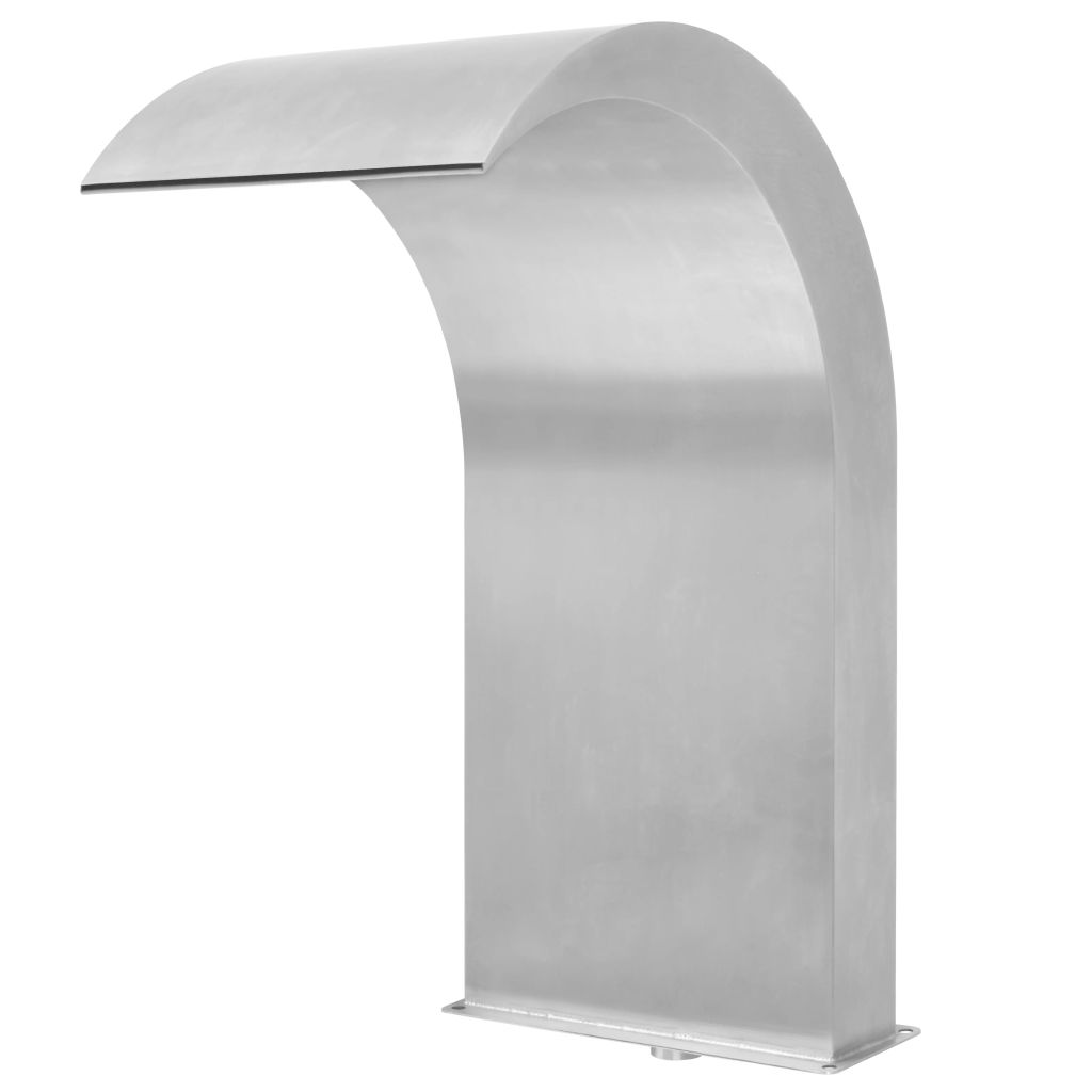 Pool Fountain Stainless Steel 45x30x65 cm Silver 2