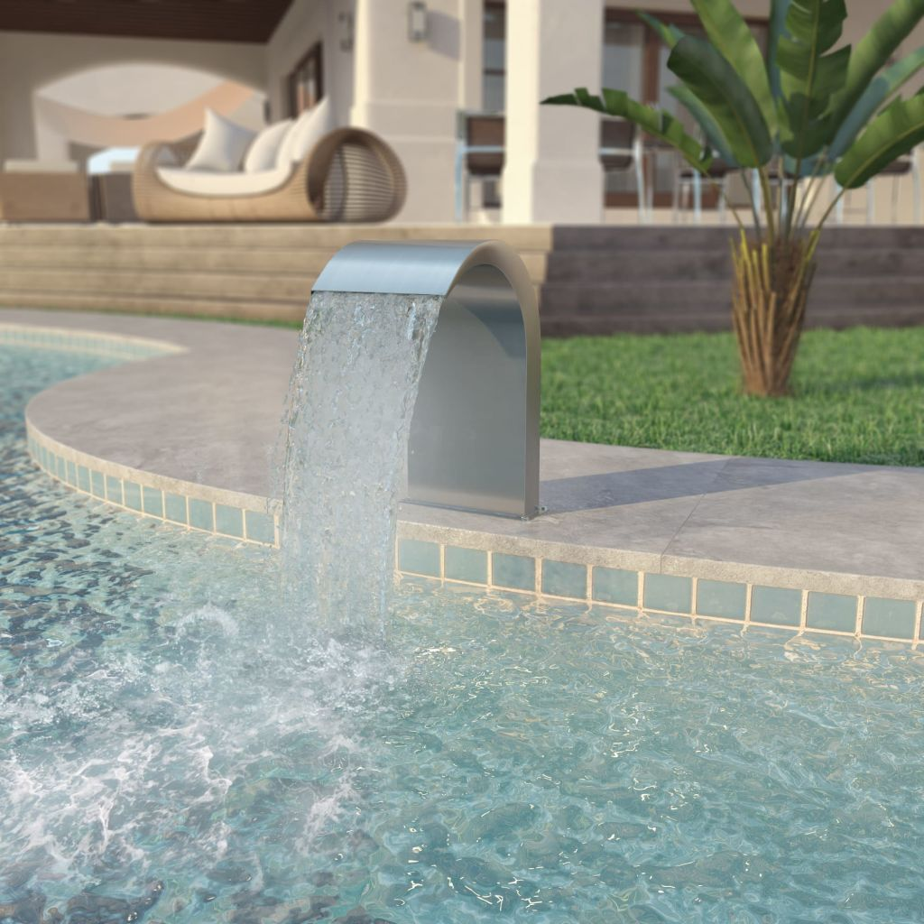 Pool Fountain Stainless Steel 45x30x65 cm Silver 1