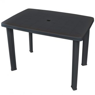 Garden Table Anthracite 101x68x72 cm Plastic 1
