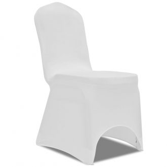 100 pcs Stretch Chair Covers White 1