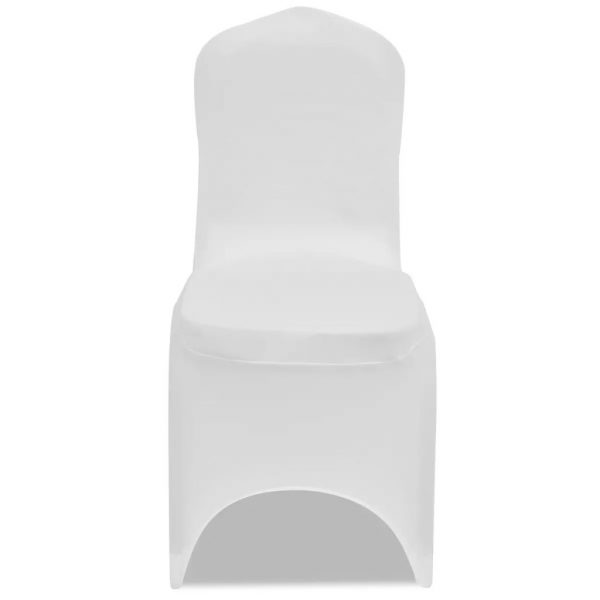 100 pcs Stretch Chair Covers White 2