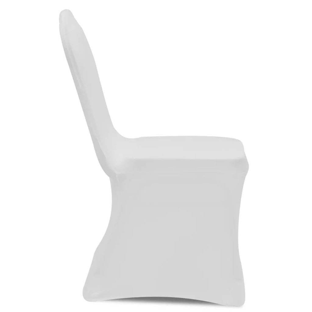 100 pcs Stretch Chair Covers White 3