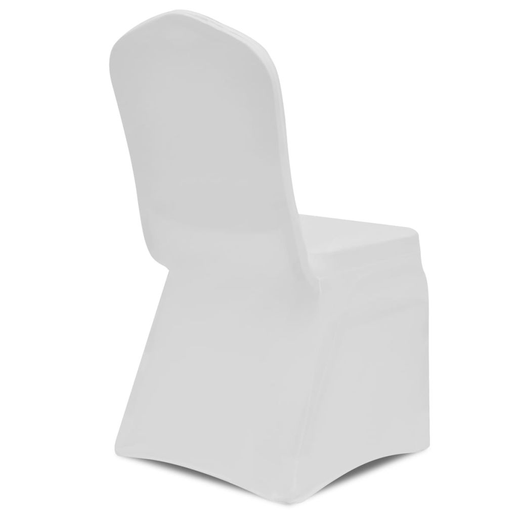 100 pcs Stretch Chair Covers White 4