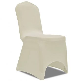 100 pcs Stretch Chair Covers Cream 1