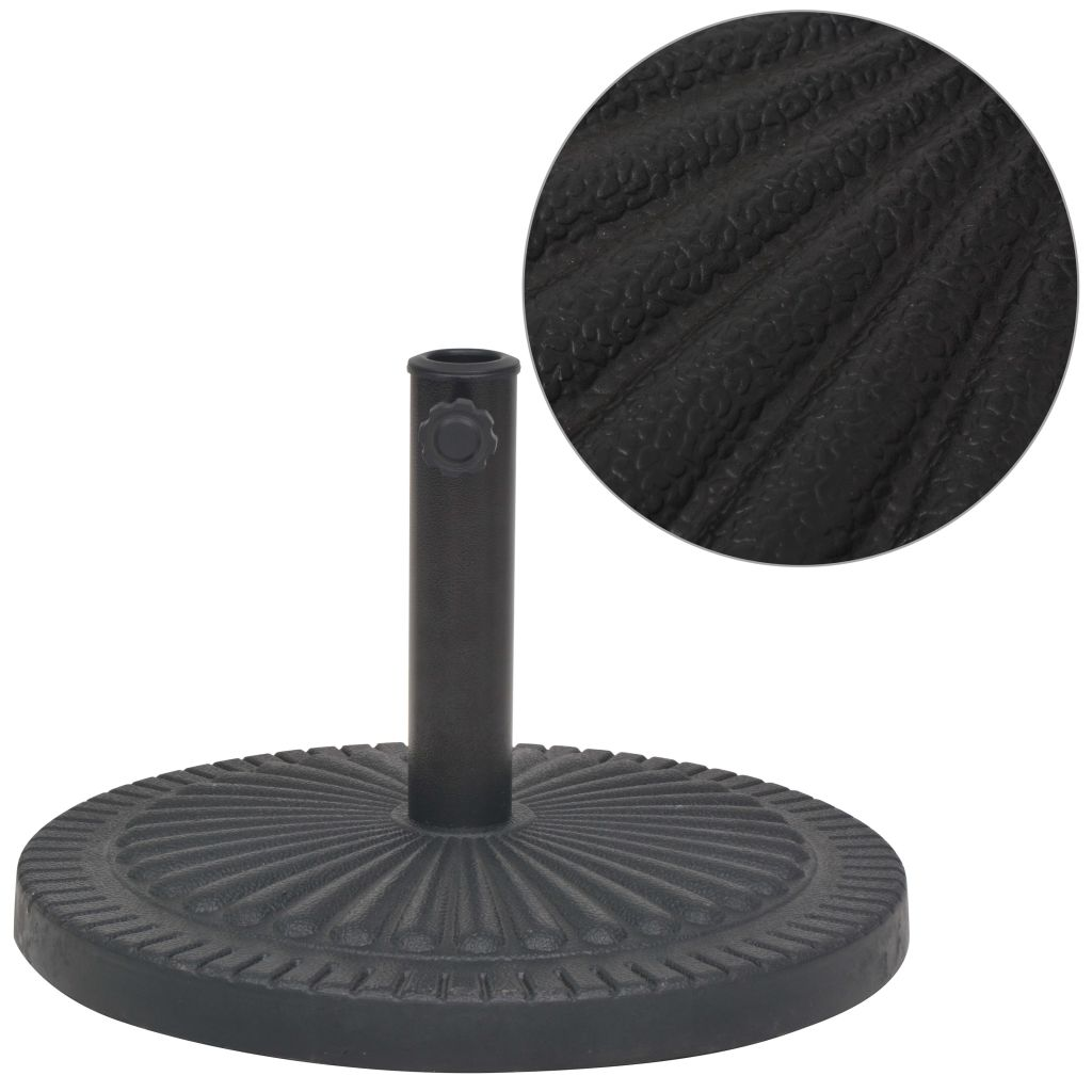 Parasol Base Resin Round Black 14 kg 1