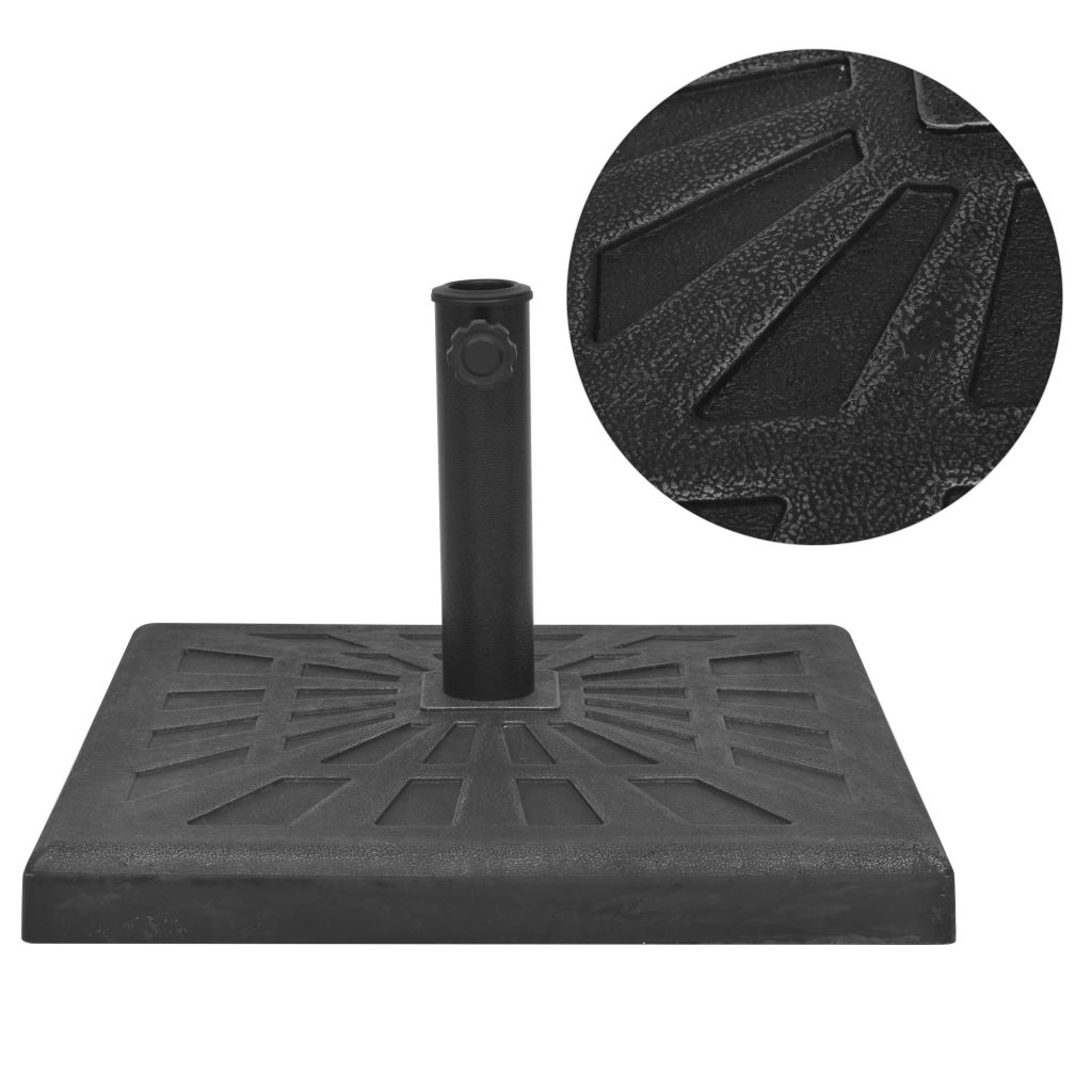 Parasol Base Resin Square Black 19 kg 1