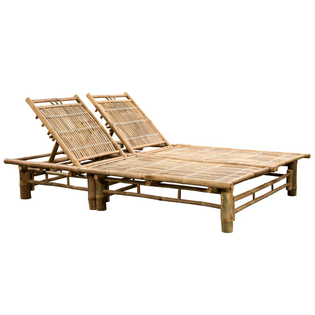 2-Person Sun Lounger Bamboo
