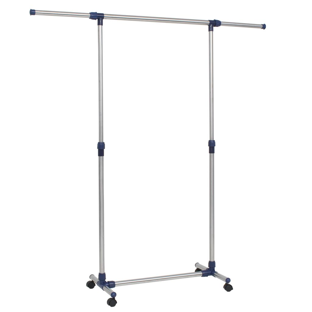 Adjustable Clothes Rack Stainless Steel 165x44x150 cm Silver 1