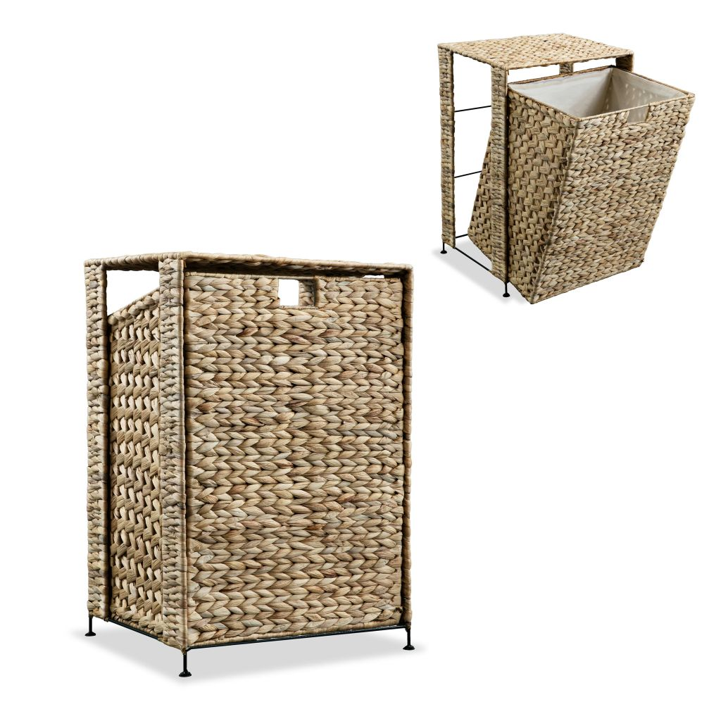 Laundry Basket 44x34x64 cm Water Hyacinth 1
