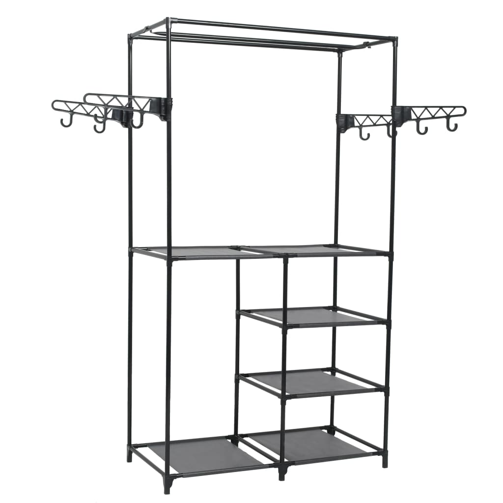 Clothes Rack Steel and Non-woven Fabric 87x44x158 cm Black 1