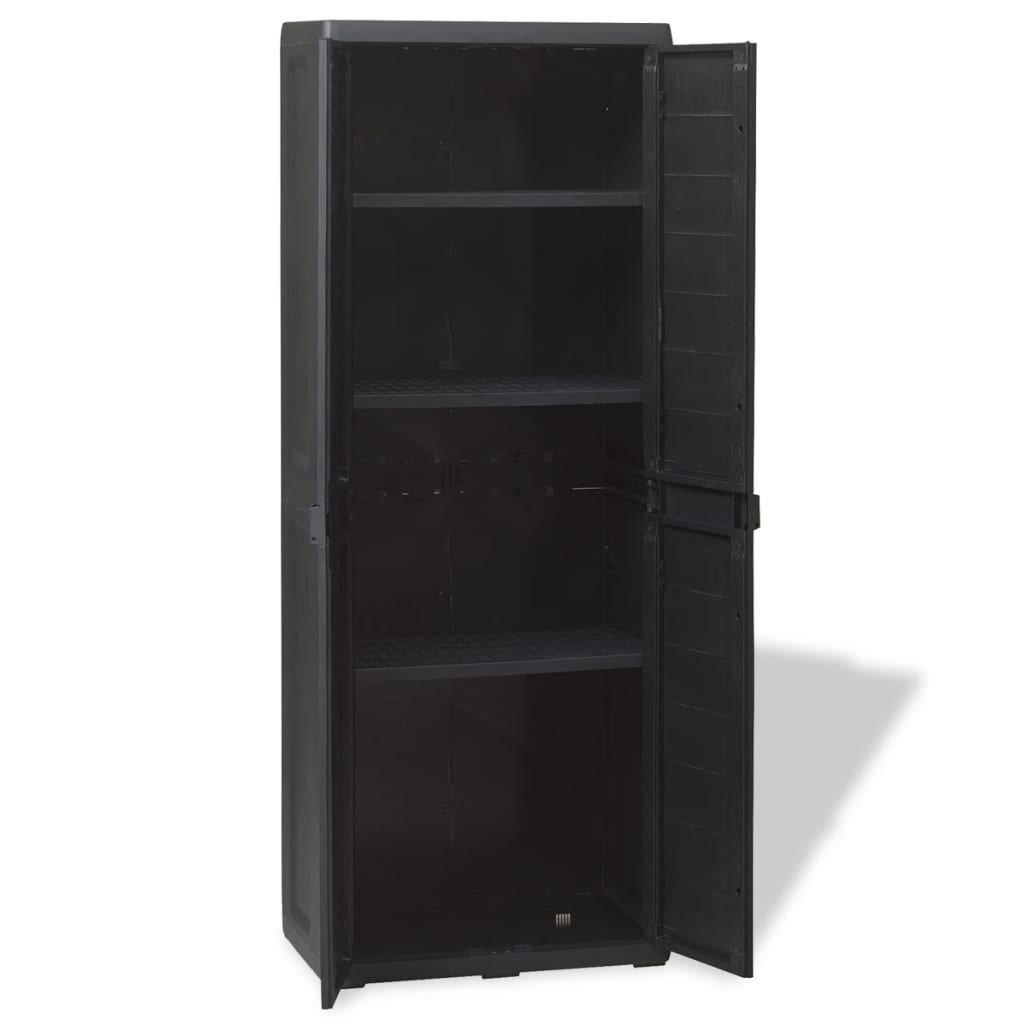 Garden Storage Cabinet with 3 Shelves Black 6