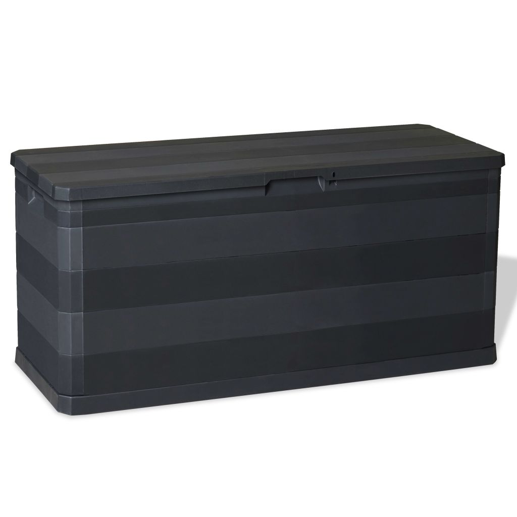 Garden Storage Box Black 117x45x56 cm