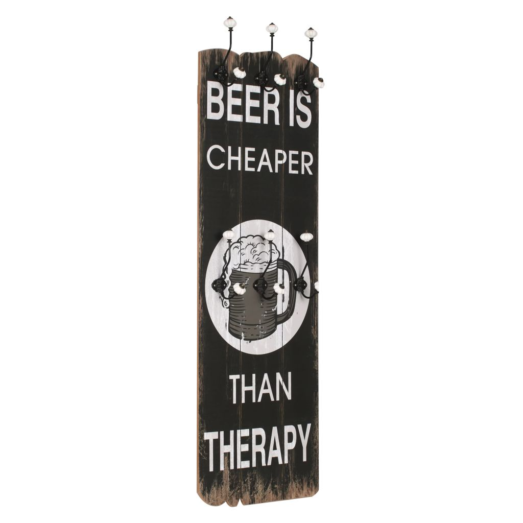 Wall-mounted Coat Rack with 6 Hooks 120×40 cm BEER CHEAPER 1