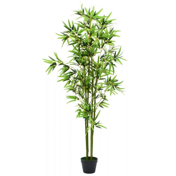 Artificial Bamboo Plant with Pot 175 cm Green 1
