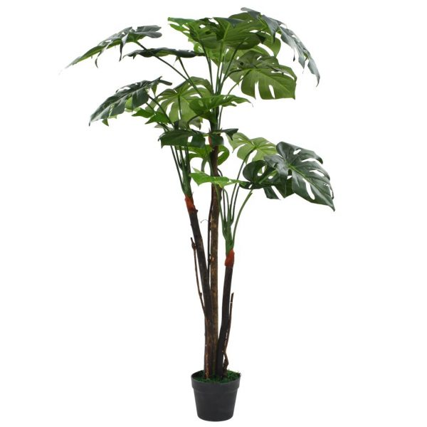 Artificial Monstera Plant with Pot 130 cm Green 1