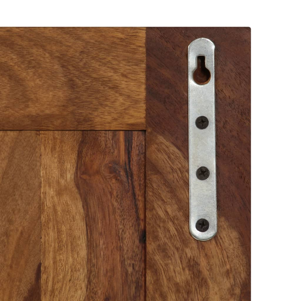 Coat Racks 2 pcs Solid Sheesham Wood 7