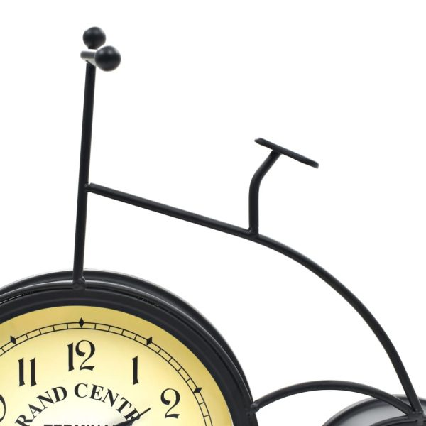 Garden Wall Clock with Thermometer Bicycle Vintage 6