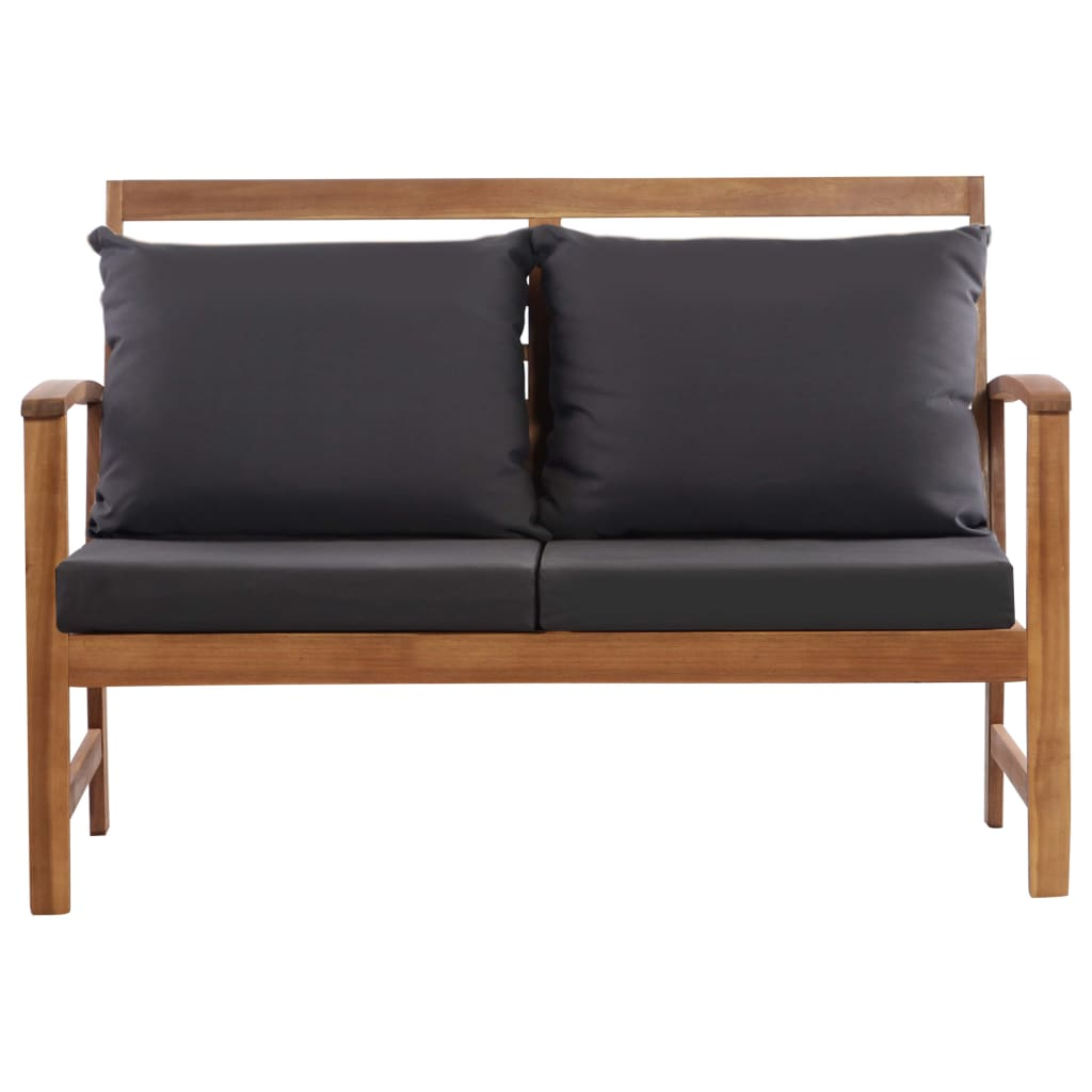 4 Piece Garden Lounge Set with Cushions Solid Acacia Wood 7
