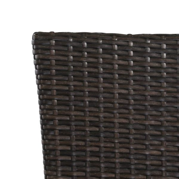 9 Piece Outdoor Dining Set Poly Rattan Black and Brown 6