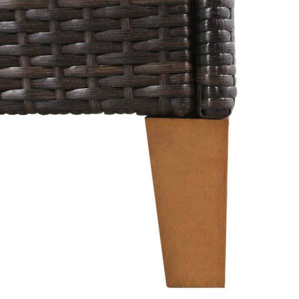 Outdoor Chairs with Cushions 2 pcs Poly Rattan Brown 7