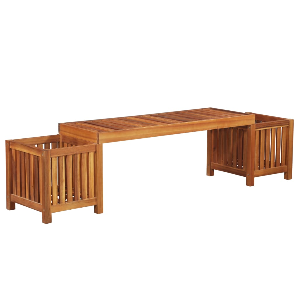 Garden Planter Bench Solid Acacia Wood 180x40x44 cm 1