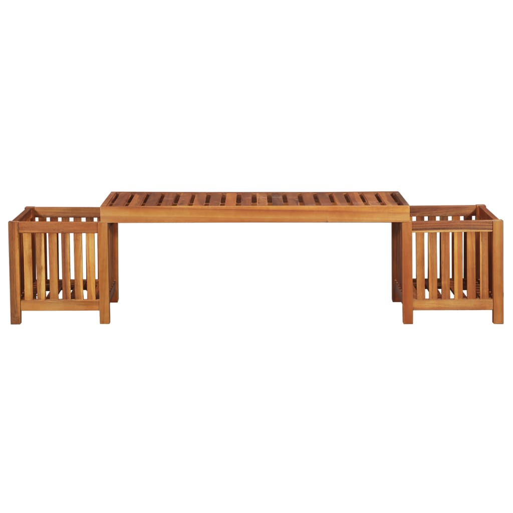 Garden Planter Bench Solid Acacia Wood 180x40x44 cm 2