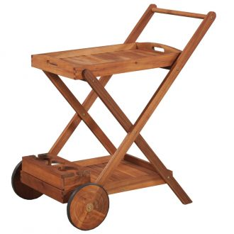 Tea Trolley Solid Acacia Wood 1