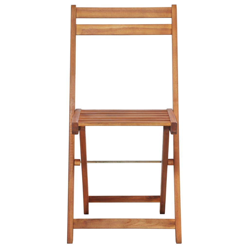 Outdoor Bistro Chairs 2 pcs Solid Acacia Wood 3
