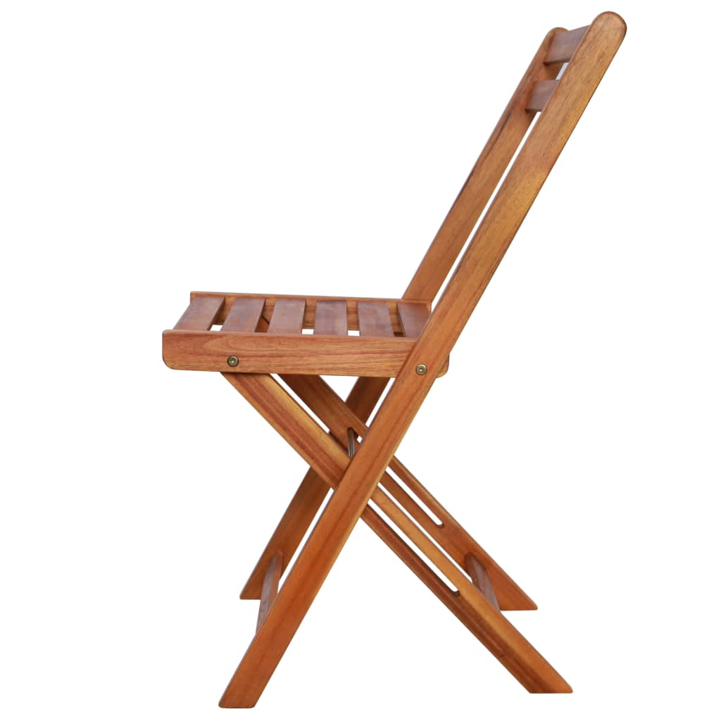 Outdoor Bistro Chairs 2 pcs Solid Acacia Wood 4