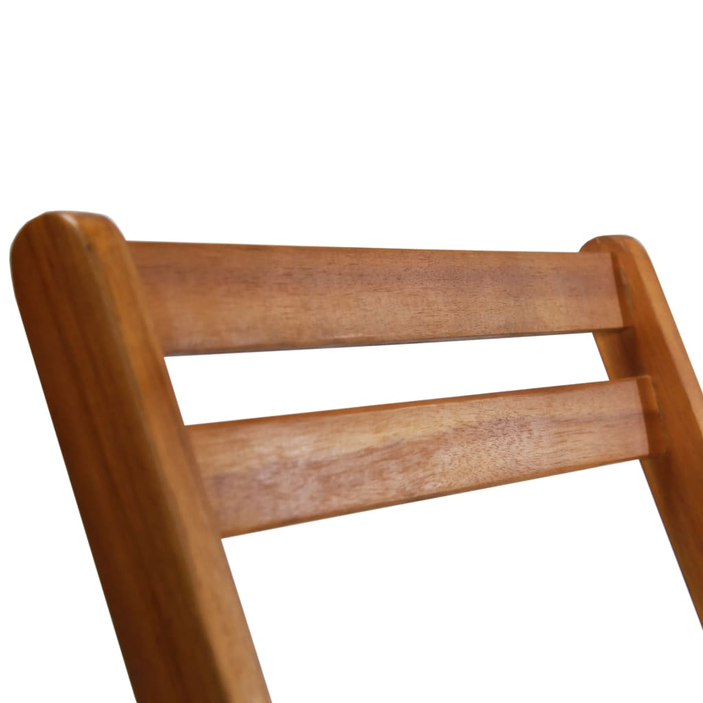 Outdoor Bistro Chairs 2 pcs Solid Acacia Wood 7