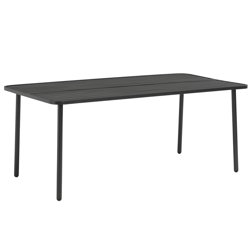 Garden Table Dark Grey 180x90x72 cm Steel 1