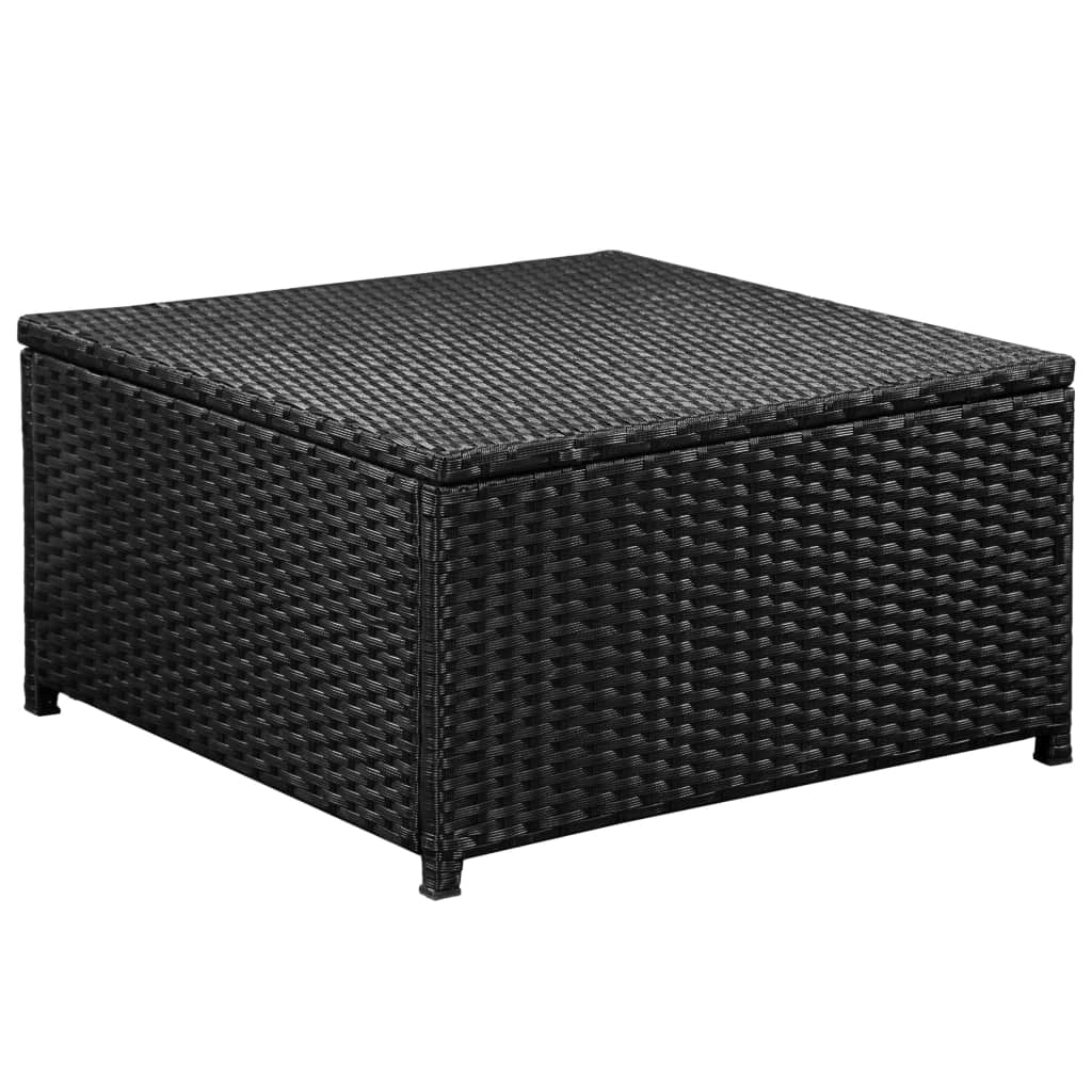 6 Piece Garden Lounge Set with Cushions Poly Rattan Black 5