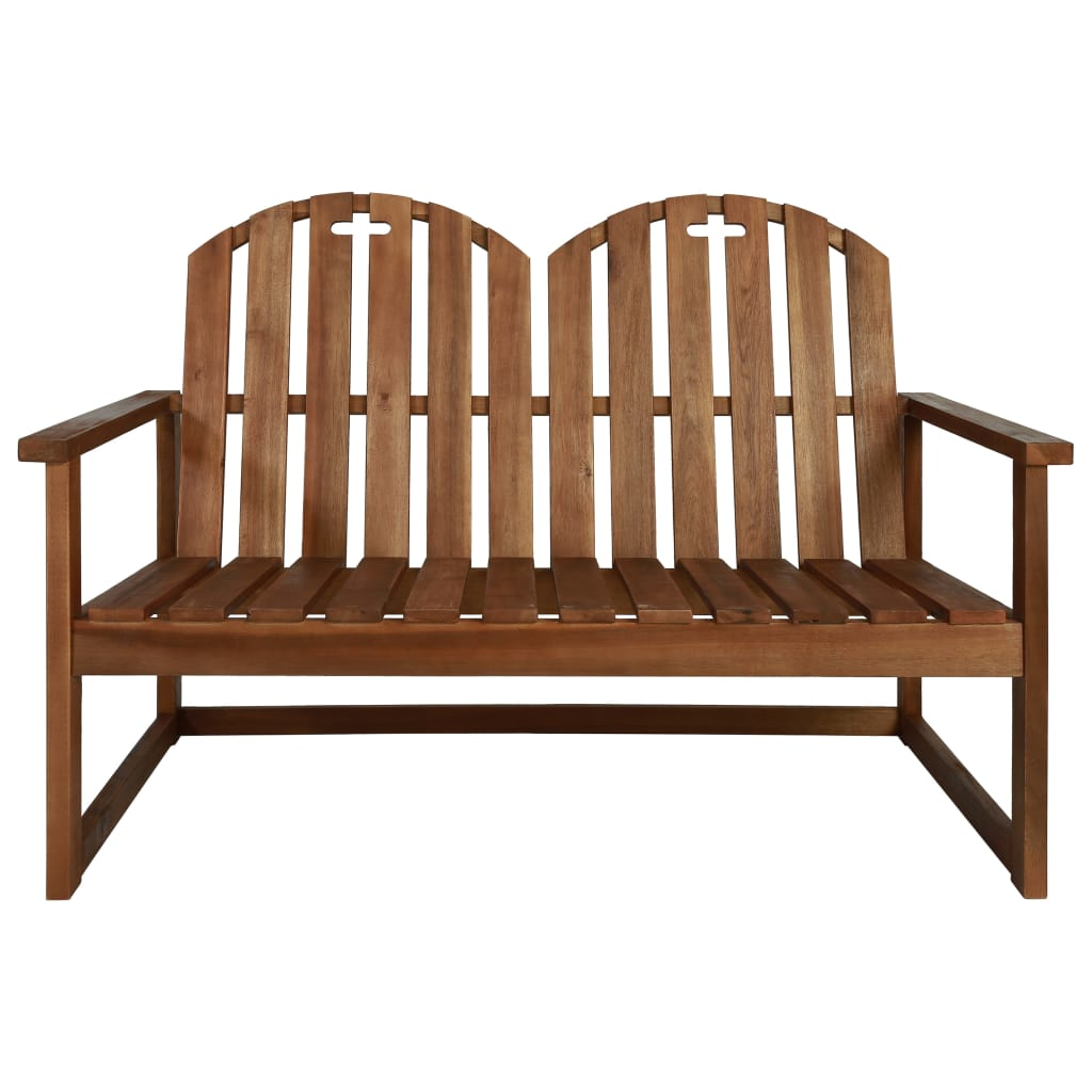 Garden Bench 110 cm Solid Acacia Wood 2