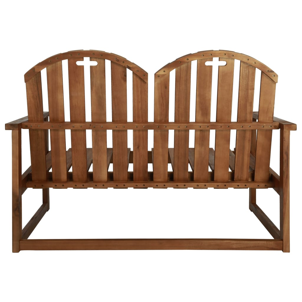 Garden Bench 110 cm Solid Acacia Wood 4