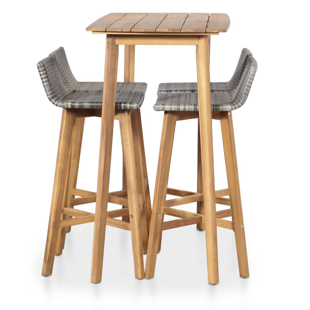 5 Piece Outdoor Dining Set Solid Acacia Wood 2