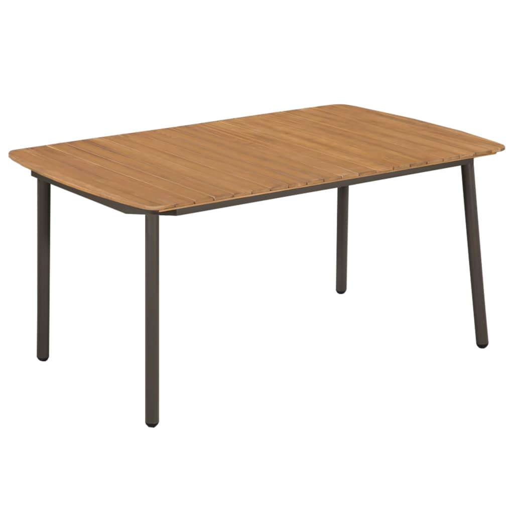 Garden Table 150x90x72cm Solid Acacia Wood and Steel