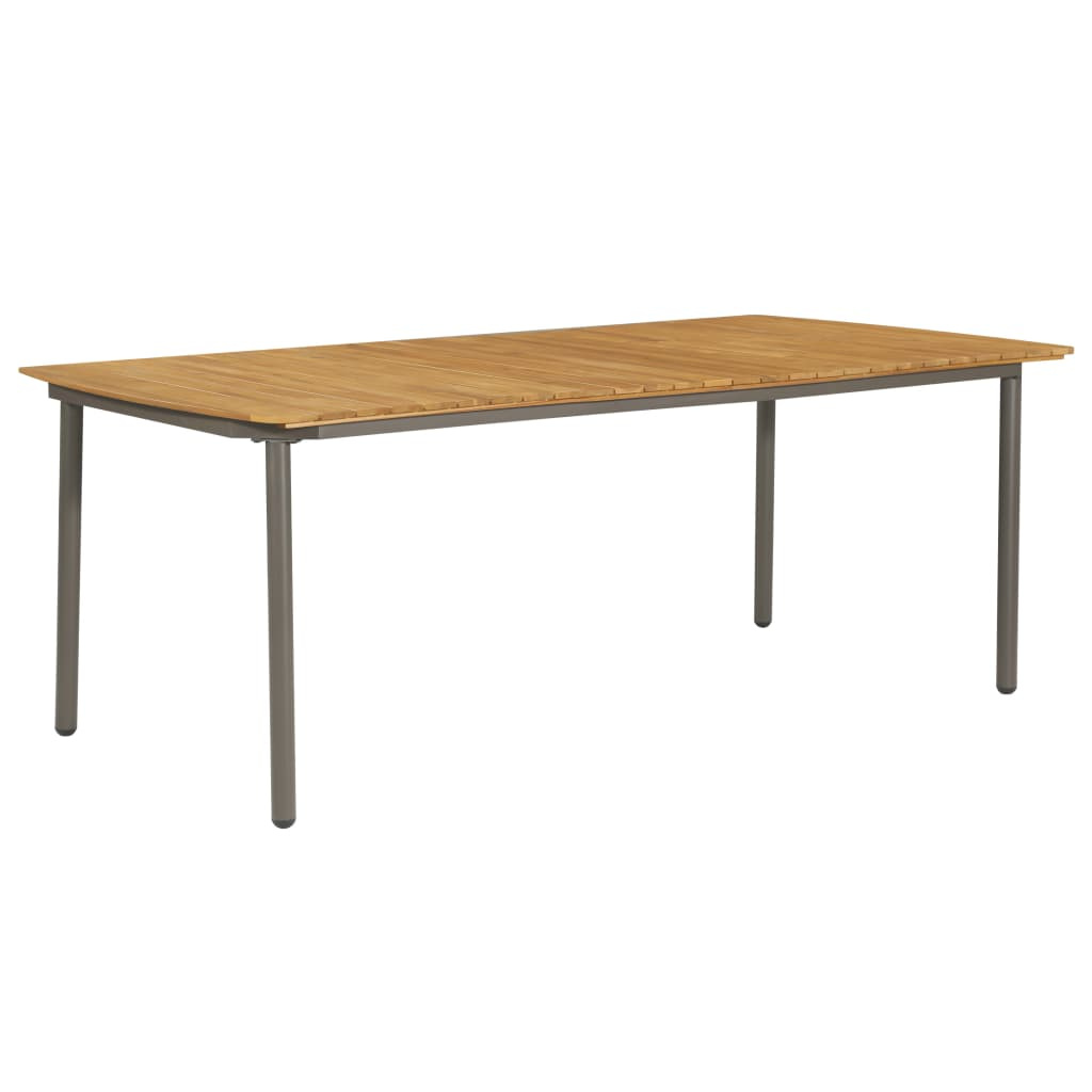 Garden Table 200x100x72cm Solid Acacia Wood and Steel