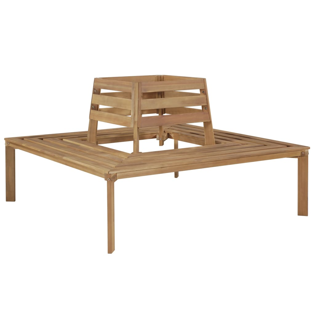 Tree Bench 140x140x86 cm Solid Acacia Wood