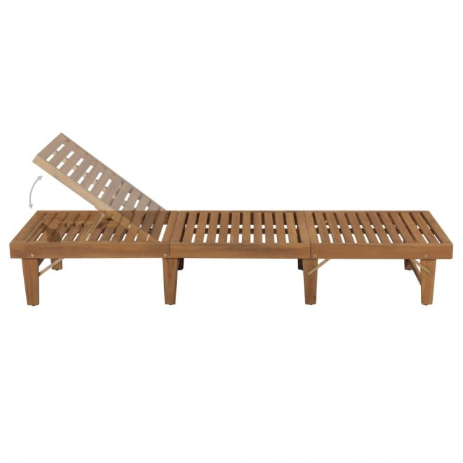 Double Sun Lounger Poly Rattan White 5