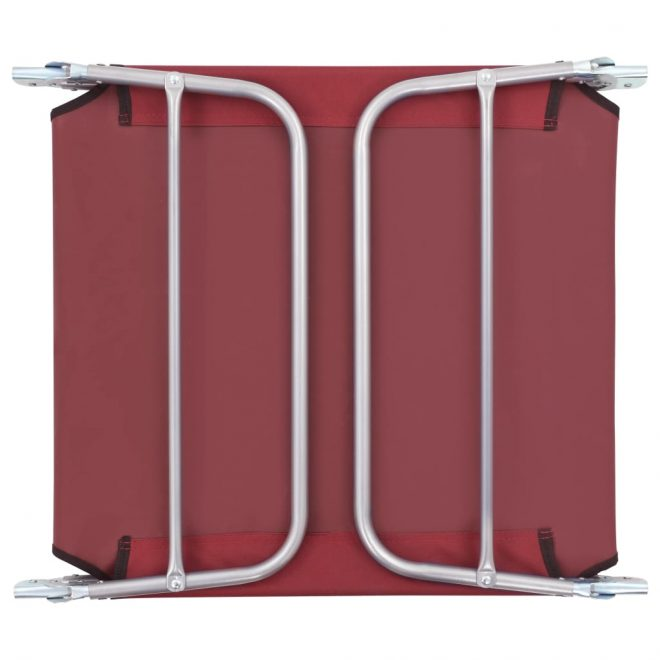 Folding Sun Loungers 2 pcs Steel and Fabric Red 10