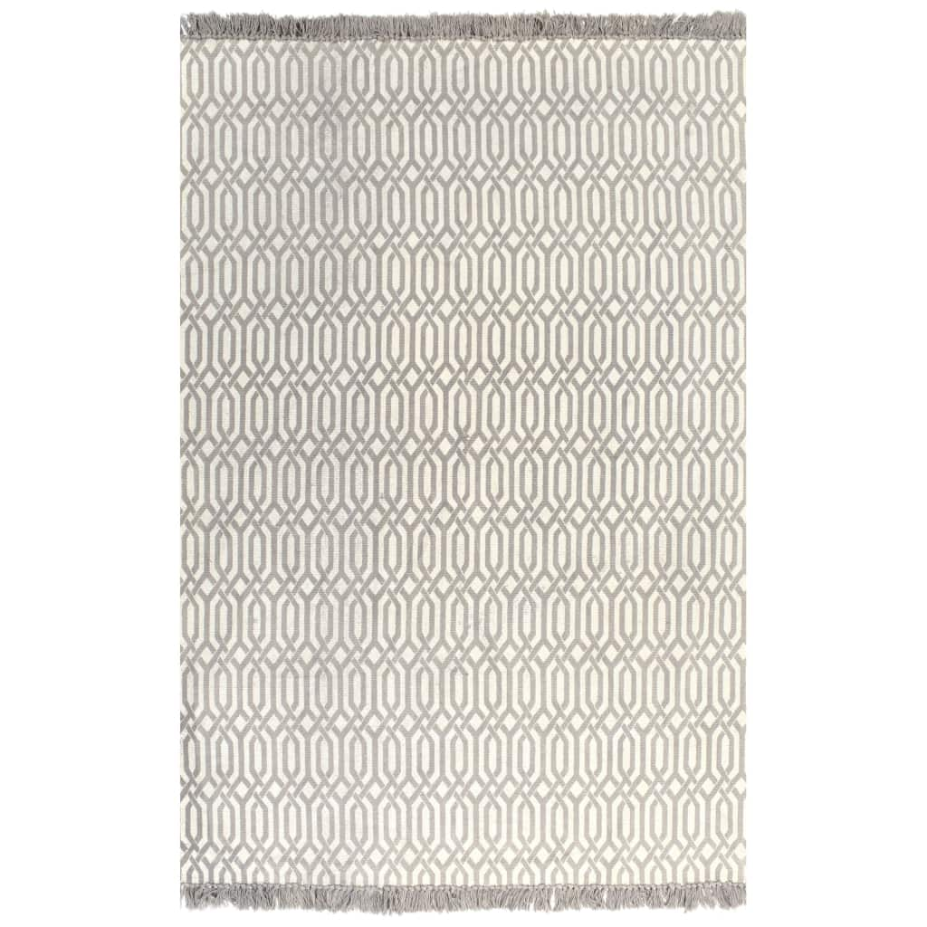 Kilim Rug Cotton 120×180 cm with Pattern Taupe 1