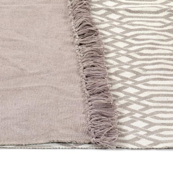 Kilim Rug Cotton 120×180 cm with Pattern Taupe 4