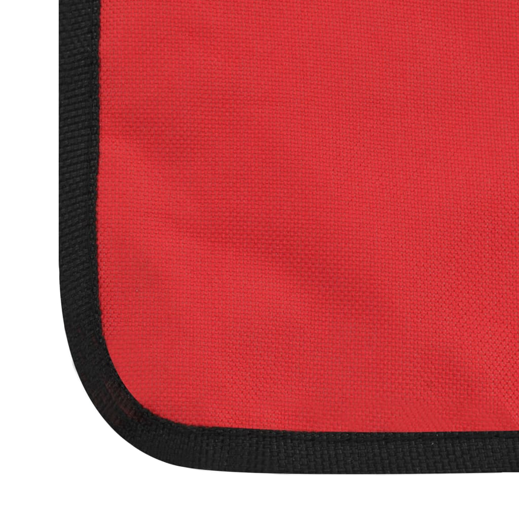 Folding Beach Mats 2 pcs Steel and Fabric Red 11