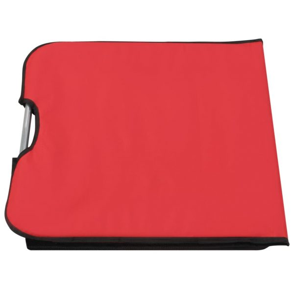 Folding Beach Mats 2 pcs Steel and Fabric Red 9