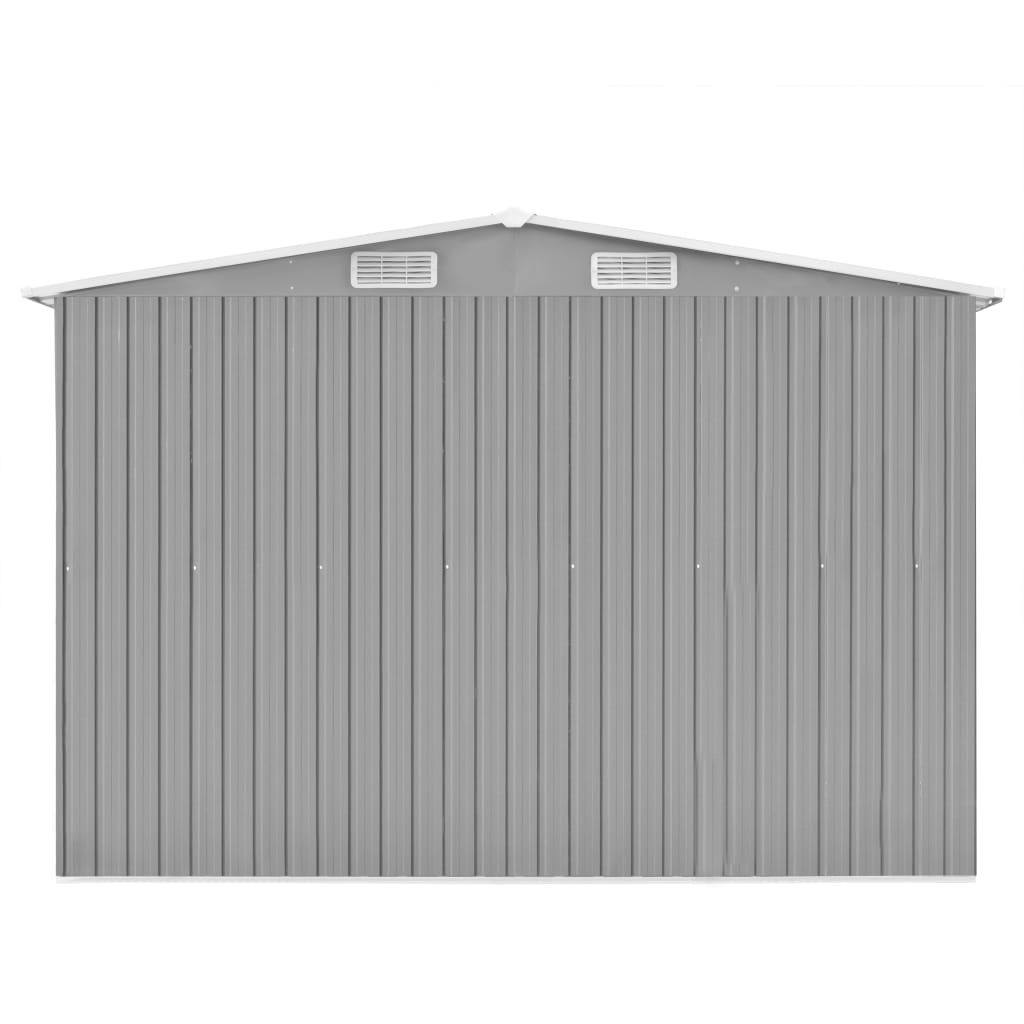 Garden Shed 257x497x178 cm Metal Grey 6