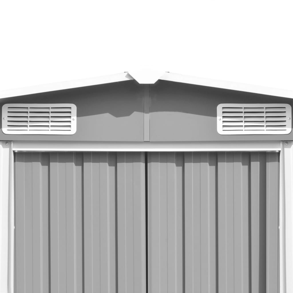 Garden Shed 257x497x178 cm Metal Grey 8