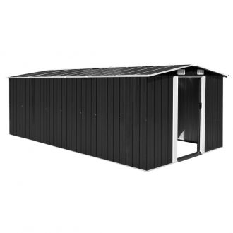 Garden Shed 257x497x178 cm Metal Anthracite 1