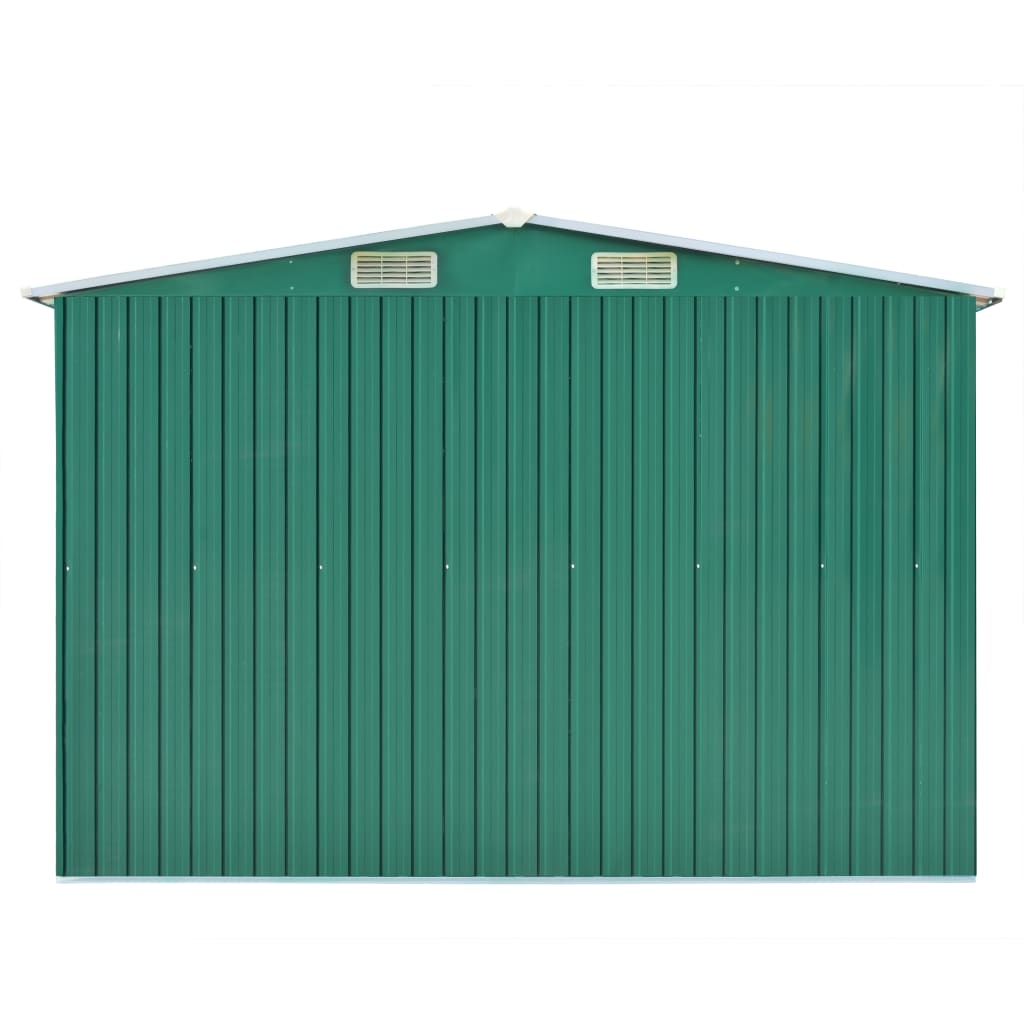Garden Shed 257x597x178 cm Metal Green 6