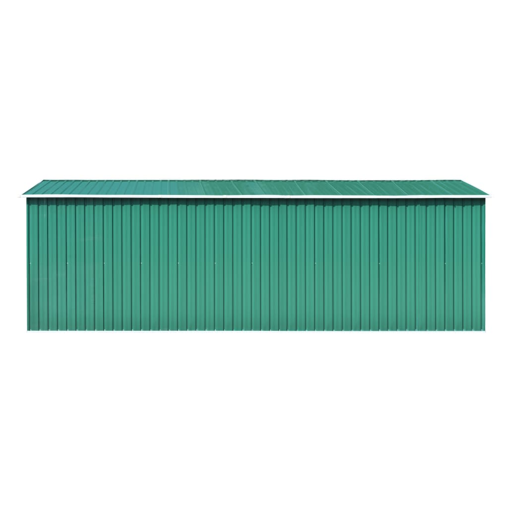 Garden Shed 257x597x178 cm Metal Green 7